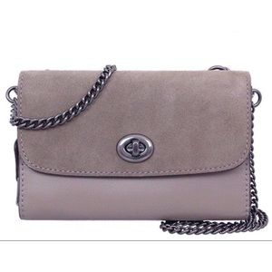 Coach Crossbody Phone Purse Chain Strap Turn Key